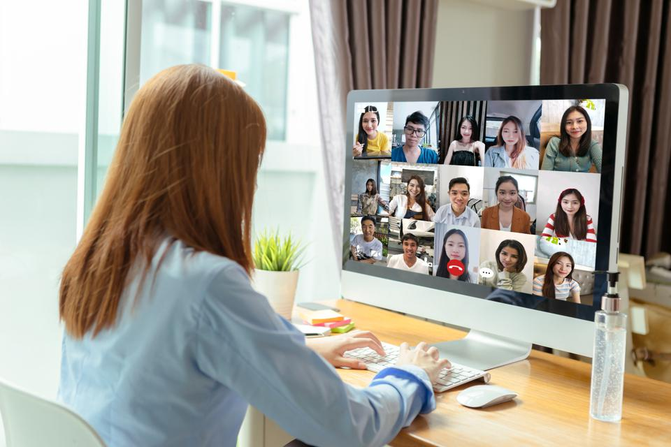 A social video call is one way to acclimate to a new career when working from home.