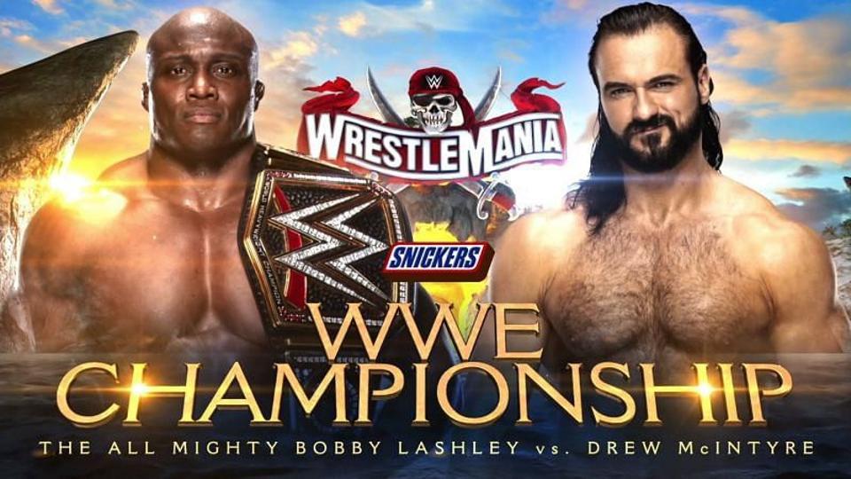 Drew McIntyre vs. Bobby Lashley WrestleMania 37.