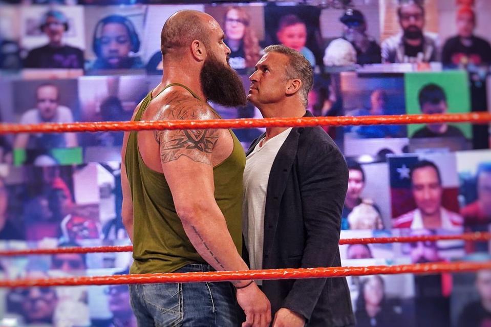 Braun Strowman vs. Shane McMahon in a Steel Cage Match at WrestleMania 37.