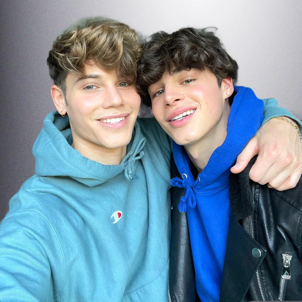 TikTok stars Nicky Champa (left) and Pierre Boo with their arms around each other