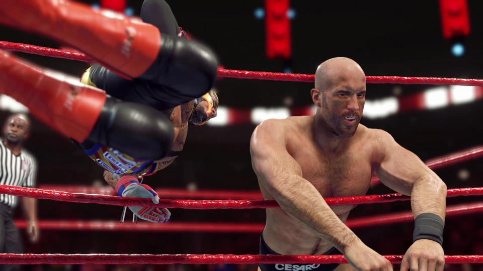 Rey Mysterio and Cesaro in WWE 2K22