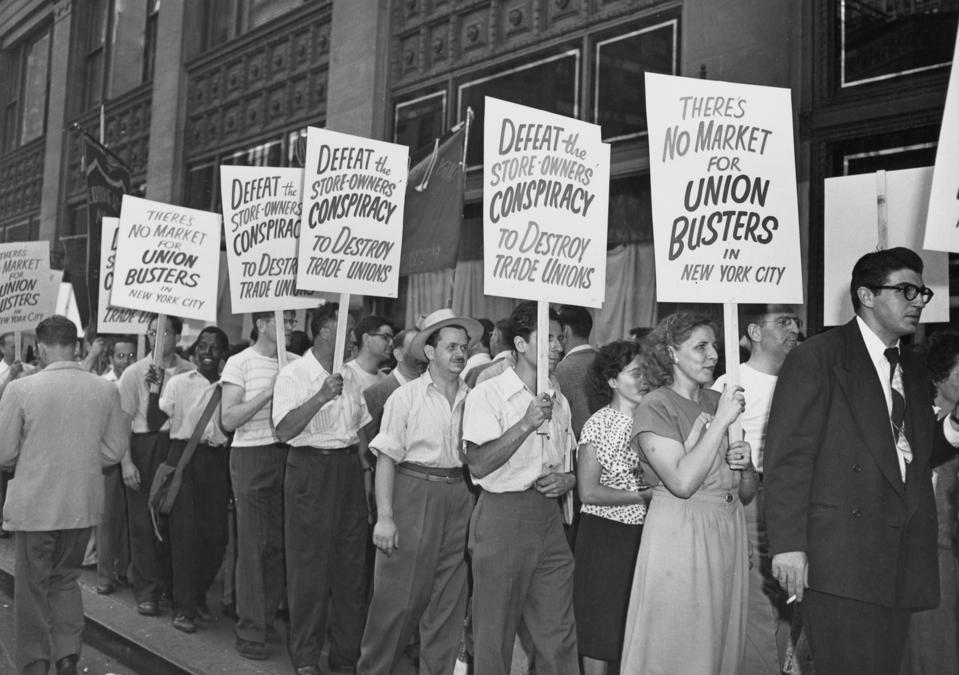Gimbels Picket, 1948