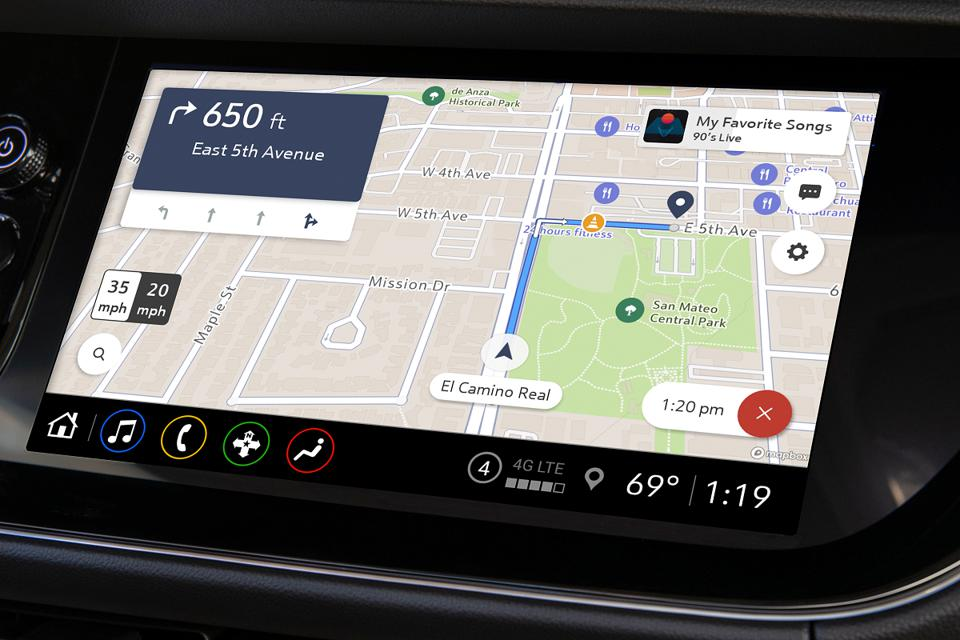 General Motors is adding the cloud-based Maps+ navigation app from MapBox to the offerings from its infotainment AppShop beginning April 30, 2021