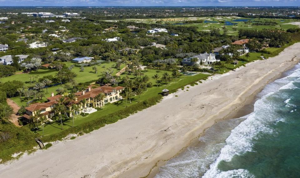 Over 500 linear feet of beachfront comes with the sale