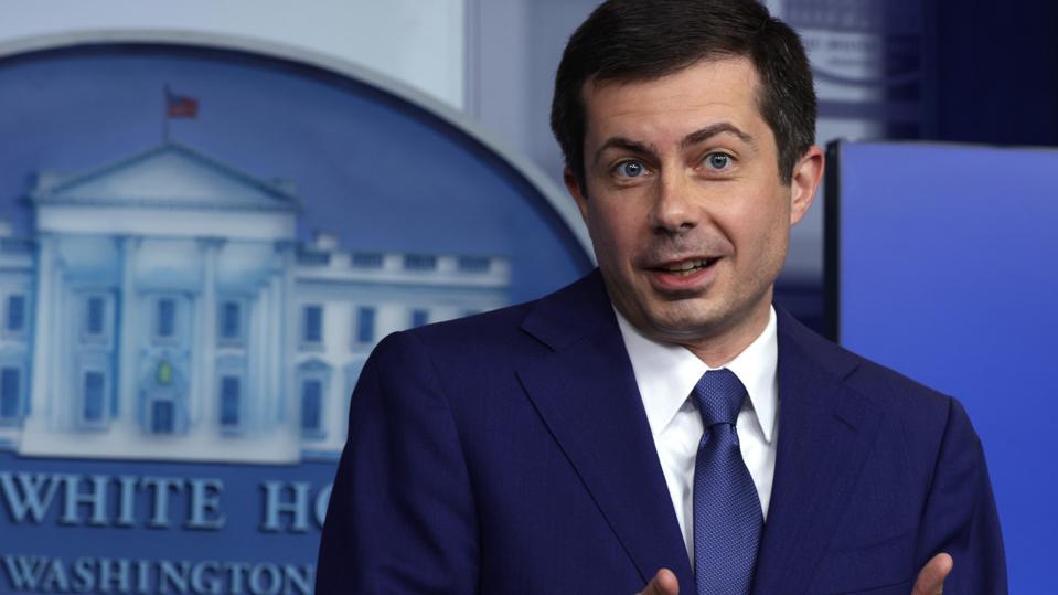 White House Press Secretary Psaki Holds Media Briefing With Transportation Secretary Buttigieg