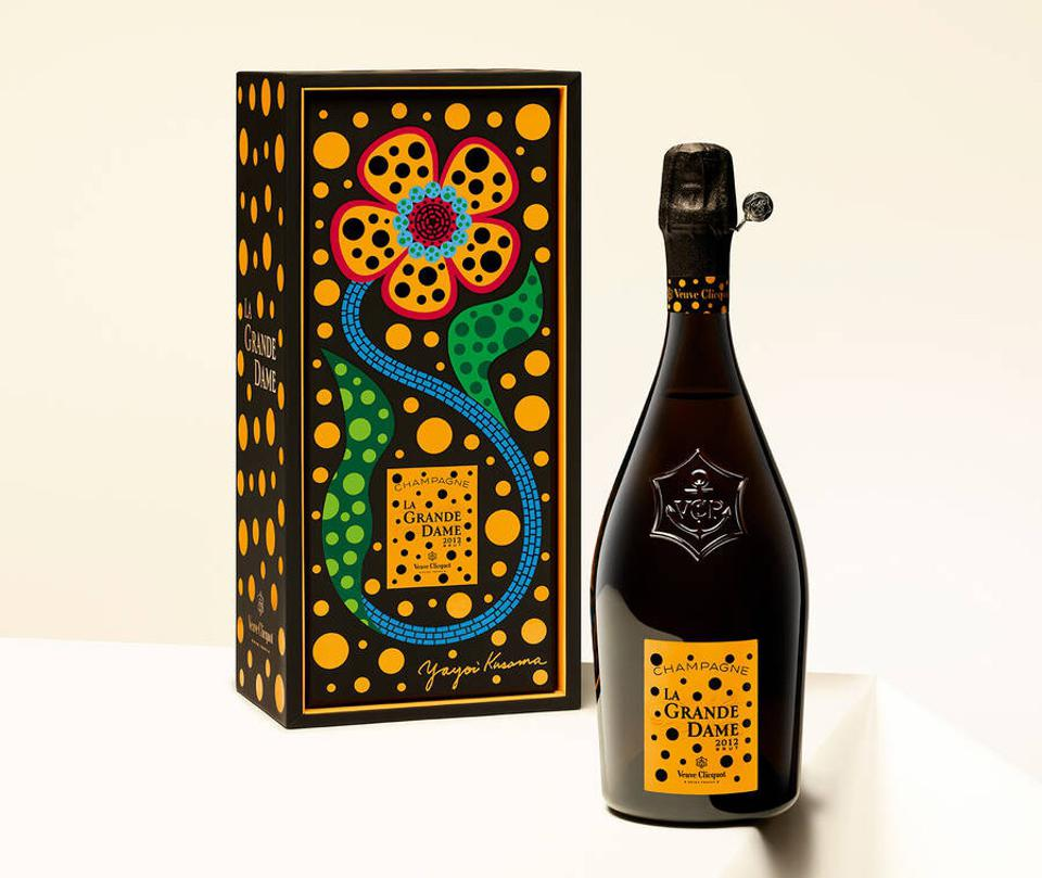 Veuve Clicquot 2012 La Grande Dame, with an original label by Yayoi Kusama.