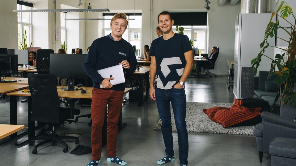 Identity verification technology company Veriff co-founders (l)Kaarel Kotkas and (r) Janer Gorohhov.