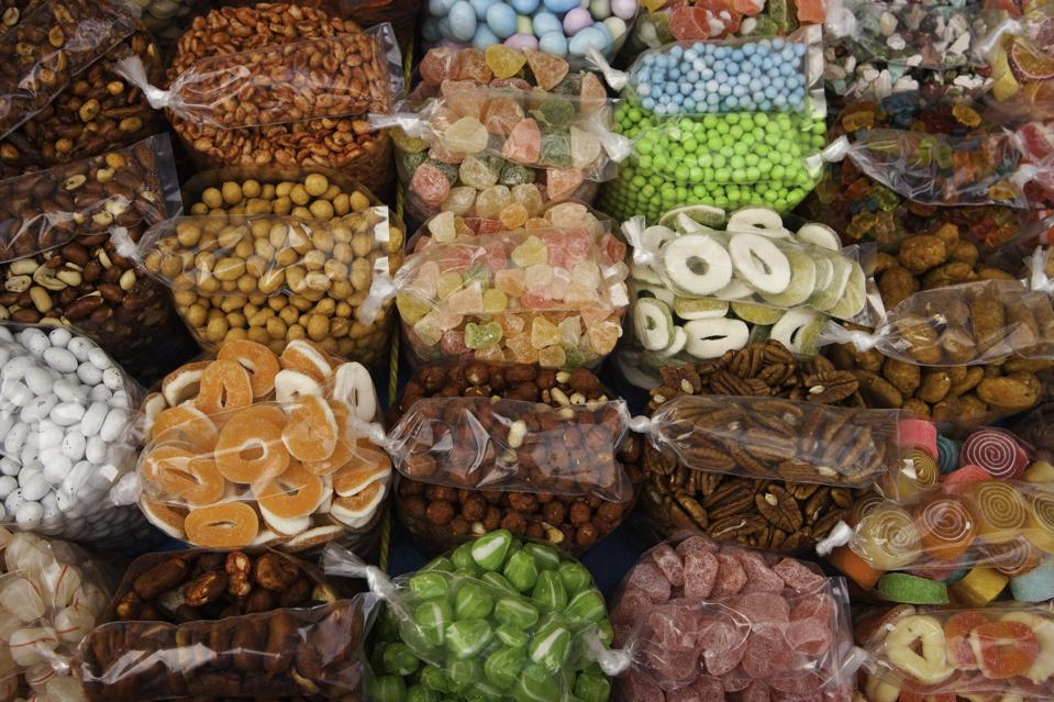 Sweets and nuts for sale in Guatemala