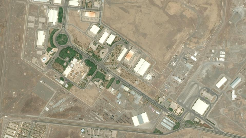 JULY 26, 2015: DigitalGlobe closeup imagery of the Natanz Fuel Enrichment Plant covering 100,000 square meters that is built 8 meters underground and protected by a concrete wall 2.5 meters thick.