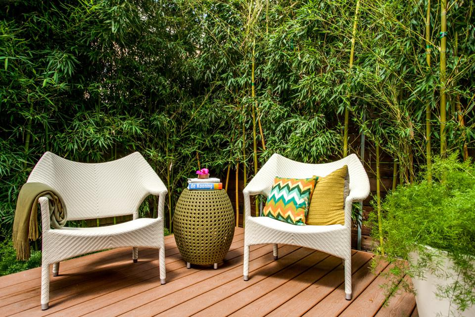 Comfortable seating is the key to a well-designed outdoor living space.