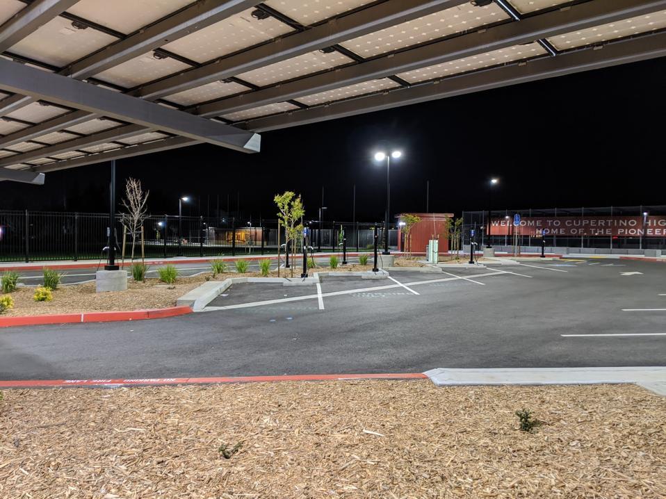 Parking lot for EVs
