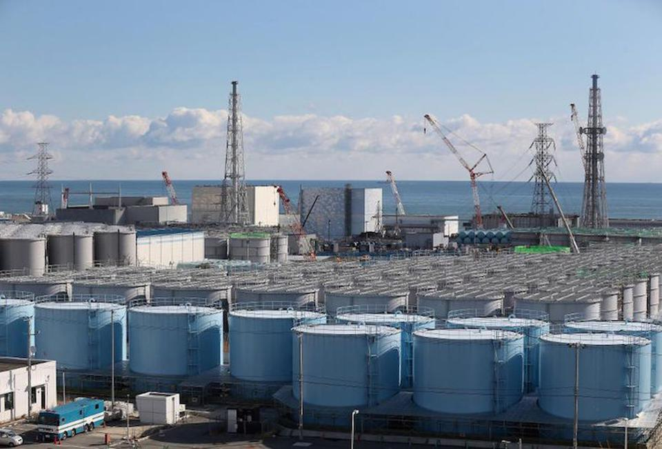 Tanks of water at Fukushima