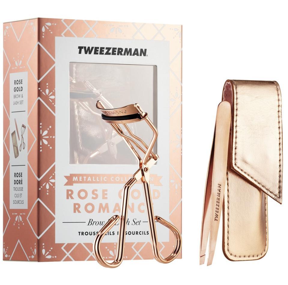 Tweezerman Rose Gold Romance Brow and Lash Set