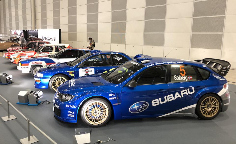 Subaru Imprezas won triple WRC championships while Nissan's rally cars, including the 240Z, competed in the Safari rally.
