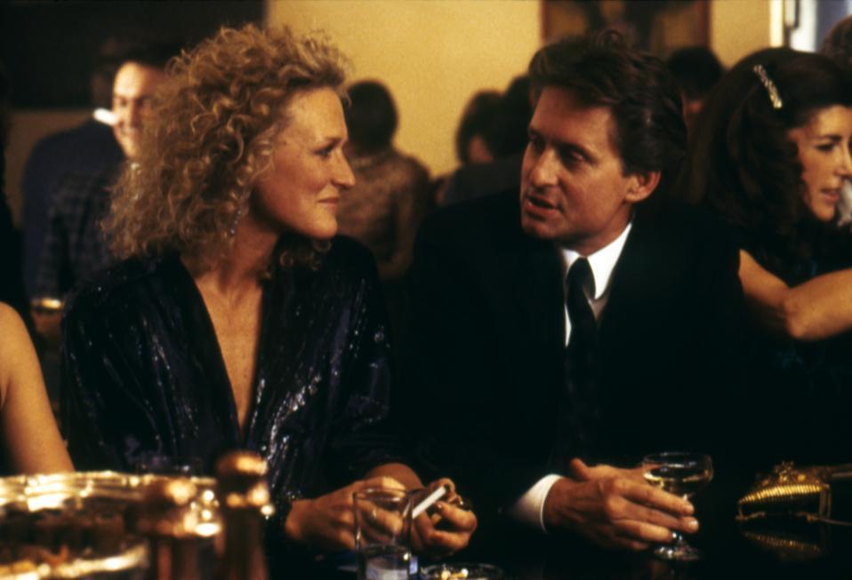 Fatal Attraction, Adrian Lyne, interview, Michael Douglas, Glenn Close, sex, box office