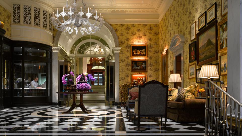 Interior of the Savoy Hotel