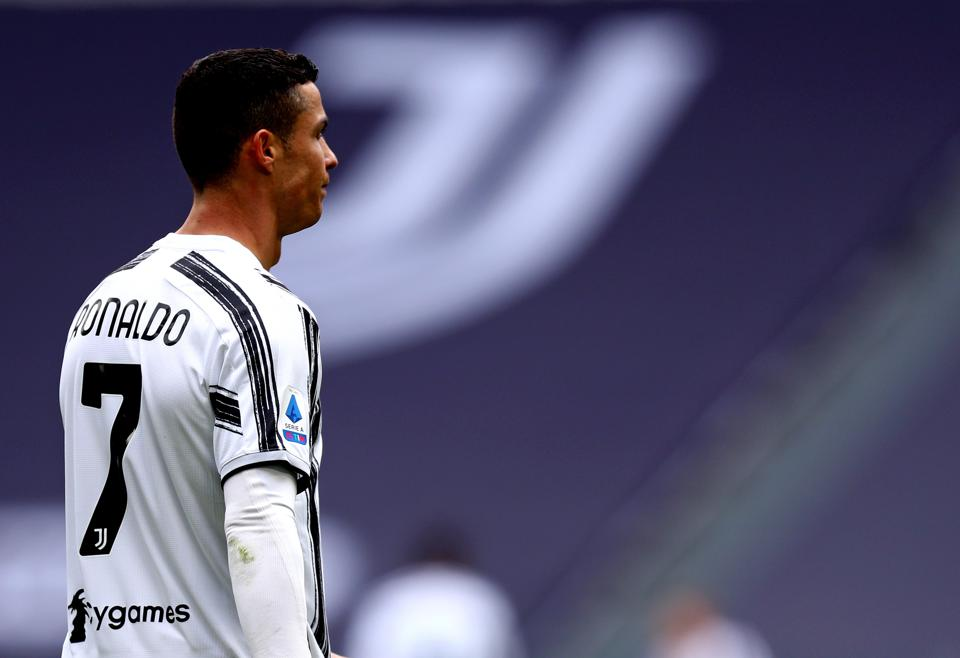 Cristiano Ronaldo of Juventus Fc looks on during the Serie...