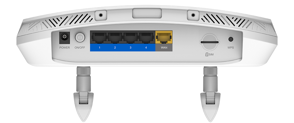 Base view of D-Link DWR-978 5G router