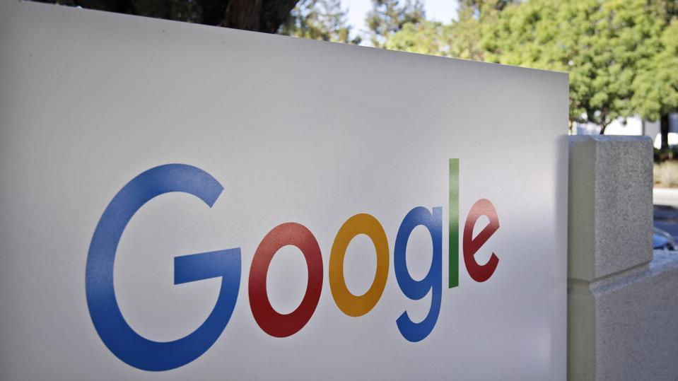 Google headquarters sign