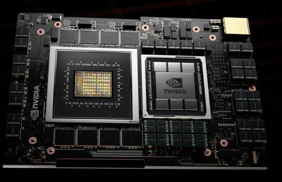 NVIDIA Grace will enable tight integration with GPUs over 900GB  cache-coherent NVLINK.