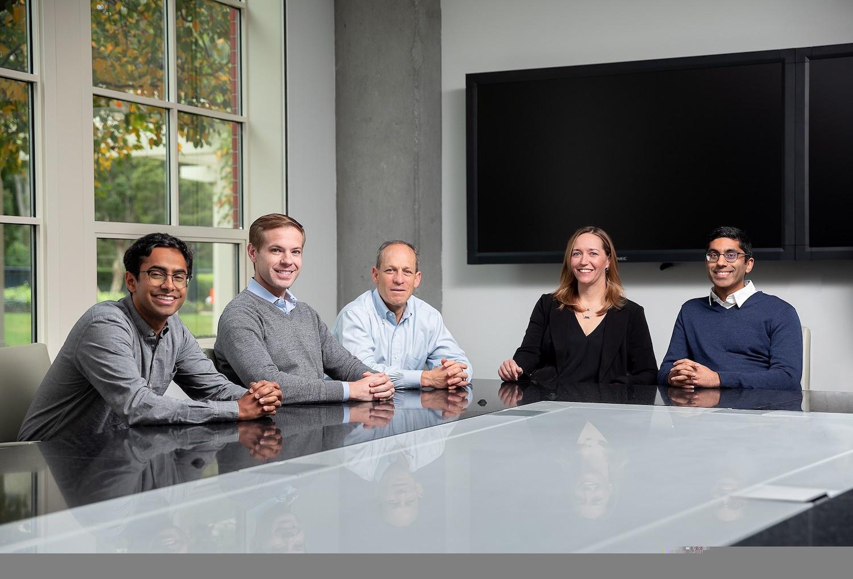 The Maverick Ventures team pre-pandemic, including Singer, center.