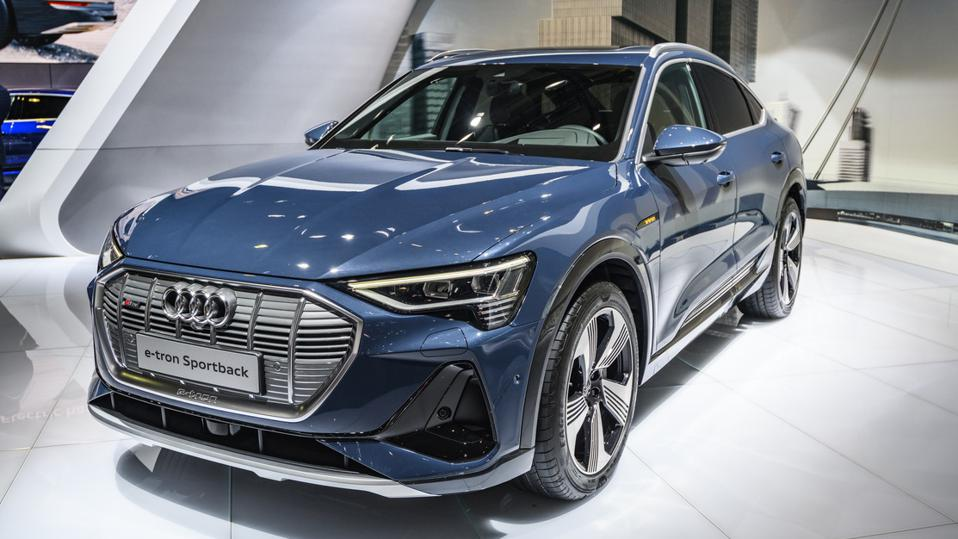The full-electric Audi e-tron Sportback is among 22 SUVs that were named a Top Safety Pick+ by the Insurance Institute for Highway Safety.