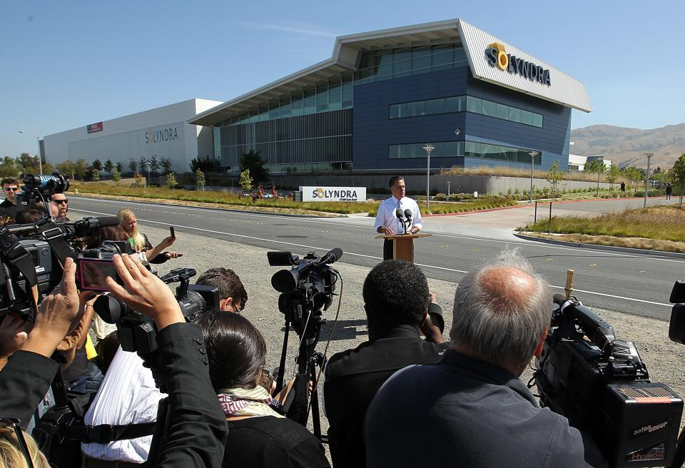 Mitt Romney Holds Campaign Event At Solyndra