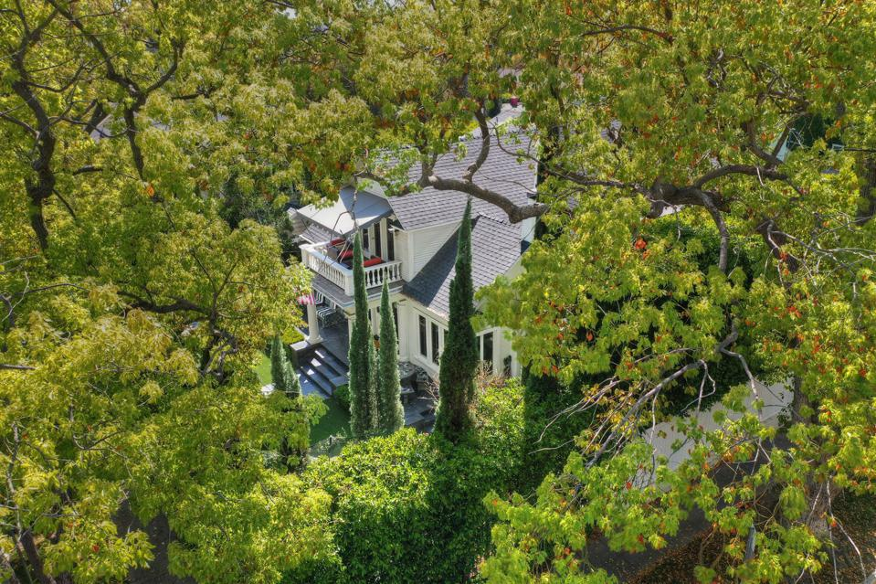mature trees and house at 1357 genesee spaulding square historic los angeles neighborhood