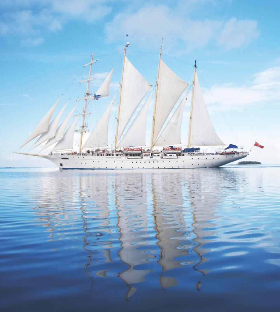 Star Clipper tall ship.