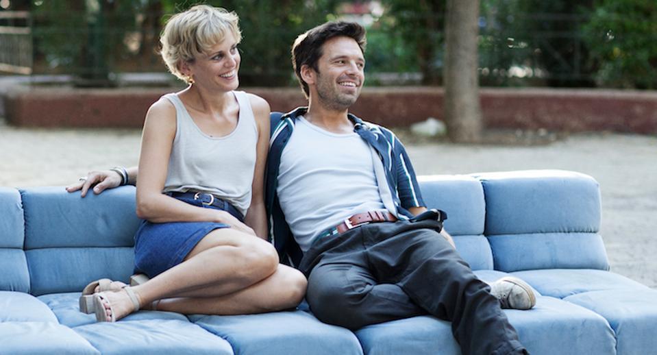 Denise Gough and Sebastian Stan in 'Monday.'