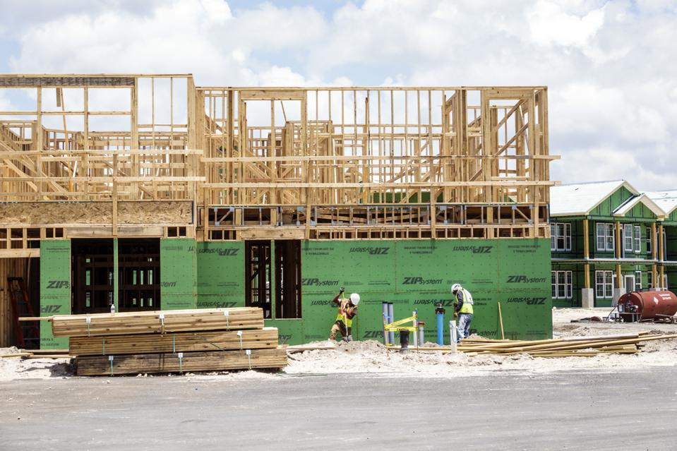 Florida, Naples, house under construction