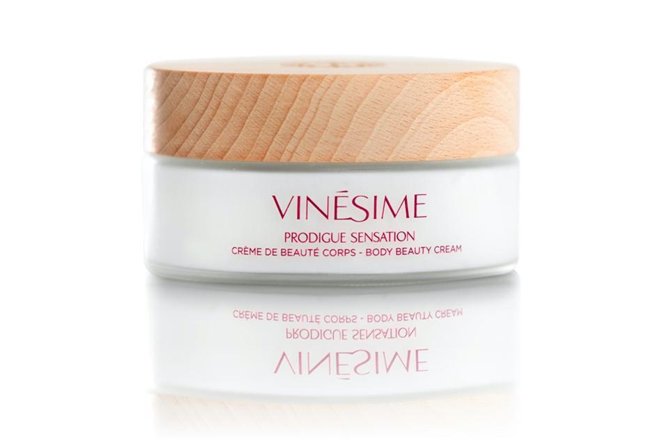 Vinésime Prodigue Sensation body beauty cream natural French skincare red wine grapes