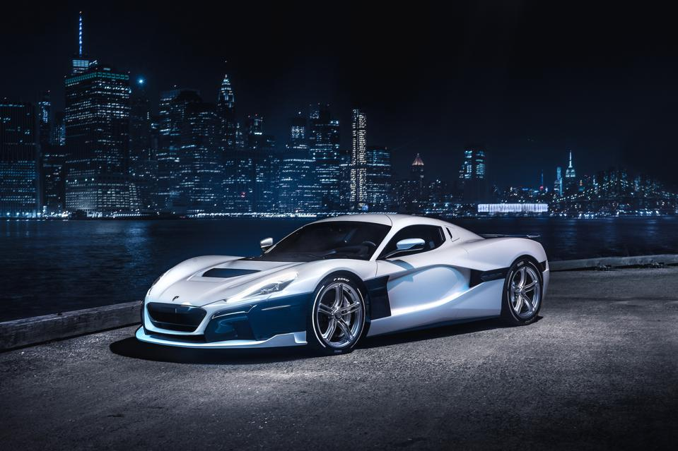 Rimac C_Two electric hypercar in New York