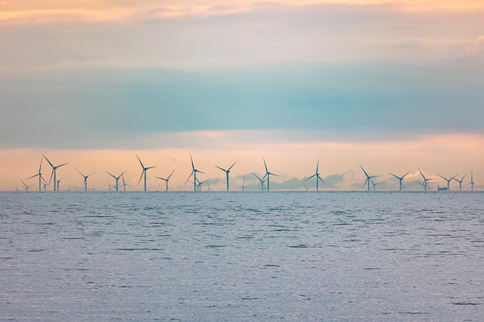 Offshore Wind Turbine Park In The Netherlands