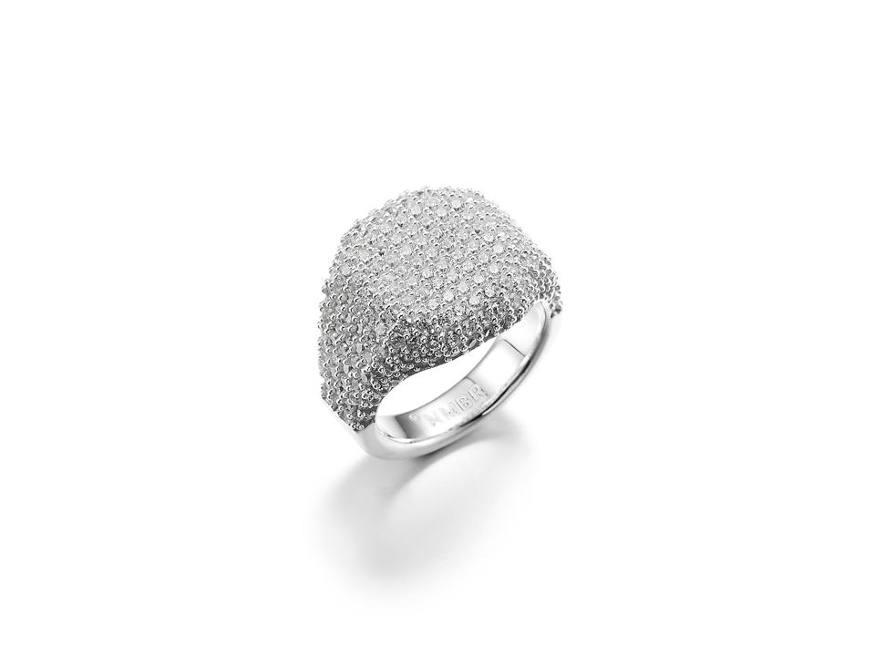 NUMBERING Pave Signet Ring