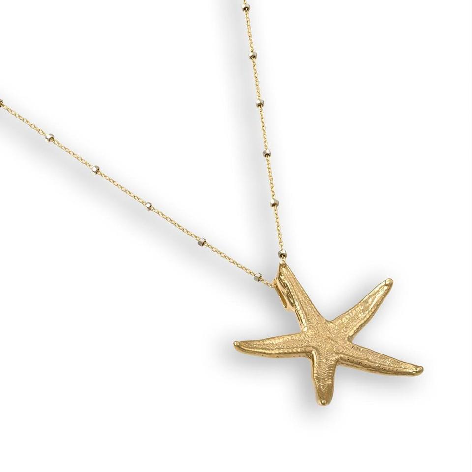HATTIE BANKS Gold Starfish Necklace