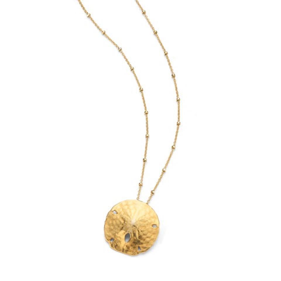 HATTIE BANKS Sand Dollar Necklace
