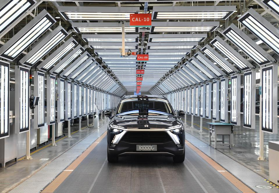 100,000th NIO Car Rolls Off The Production Line In Hefei