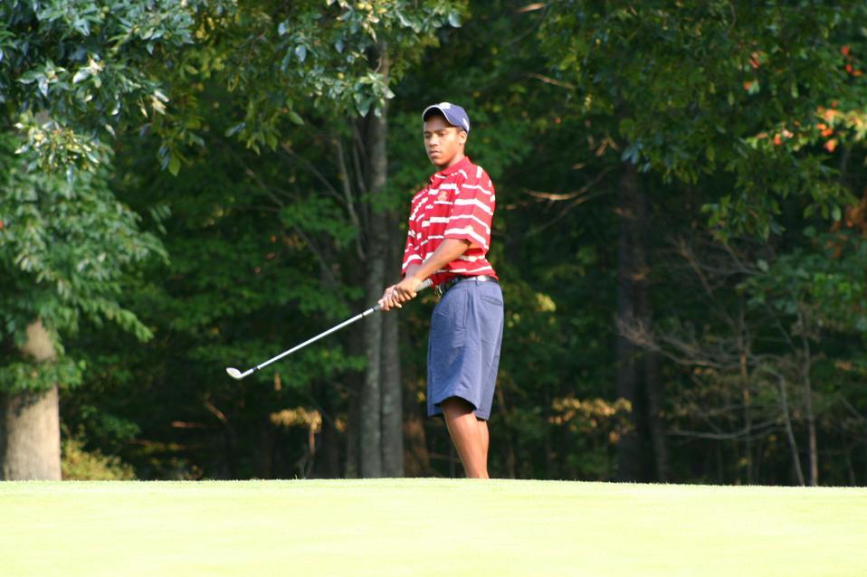 Varner as a junior golfer