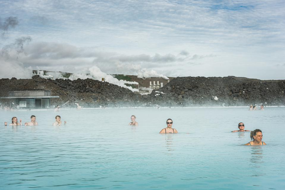 The blue Lagoon, Iceand and bathers