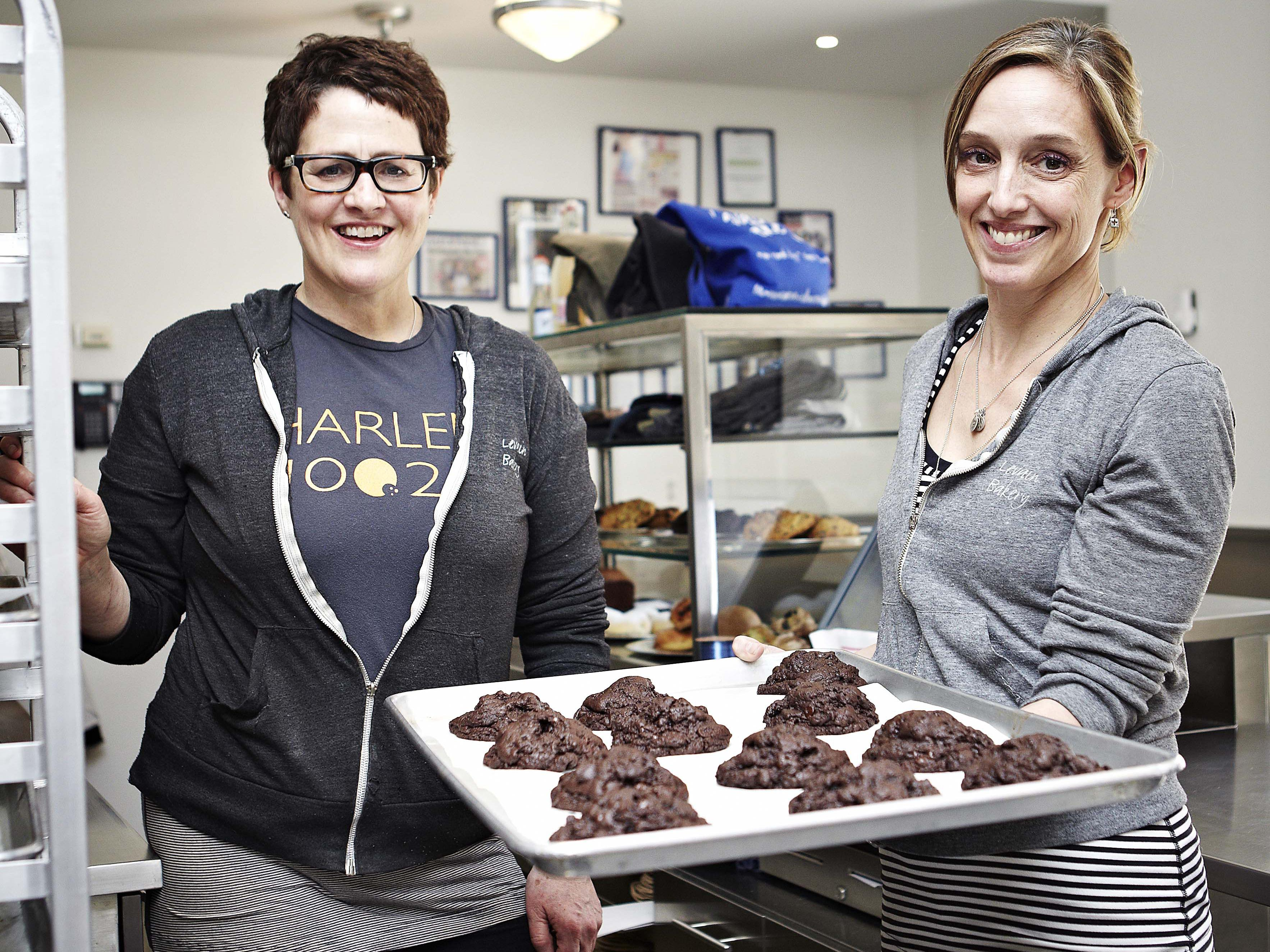Connie McDonald (left) and Pam Weekes (right) started Levain in 1997.
