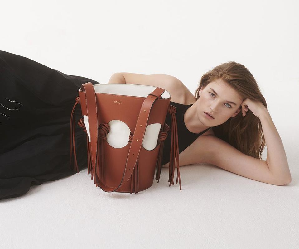 Venus Bucket Bag in Almond by NEOUS