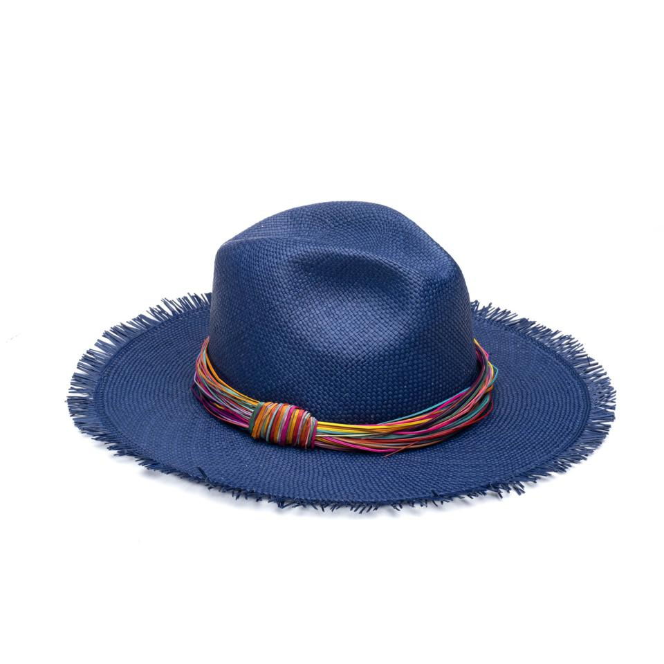 Indigo Courtney Hat from the Spring Summer collection of EUGENIA KIM