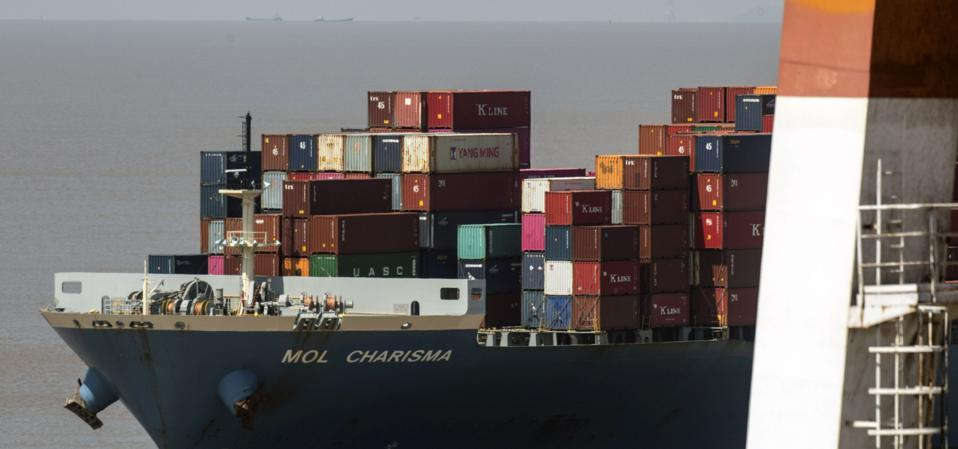 Containers Port In Shanghai Ahead of Trade Figures