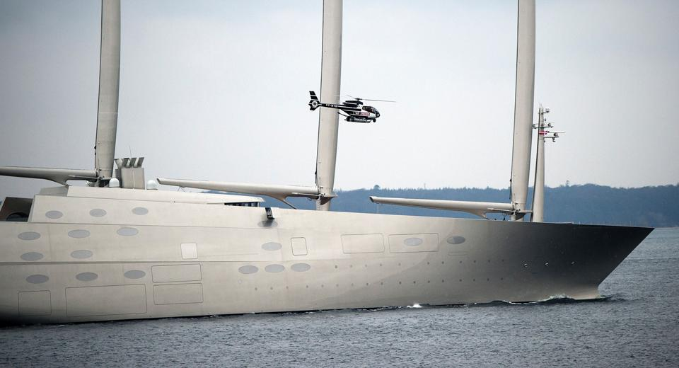 Sailing Yacht A owned by Russian tycoon Andrey Melnichenko is still the largest sailing super yacht in the world