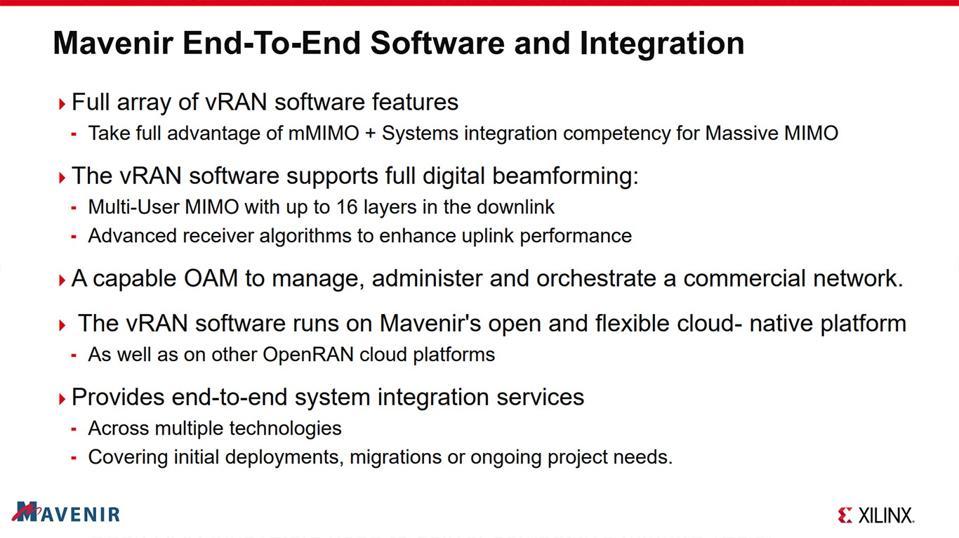 Mavnir & Xilinx O-RAN mMIMO Integration