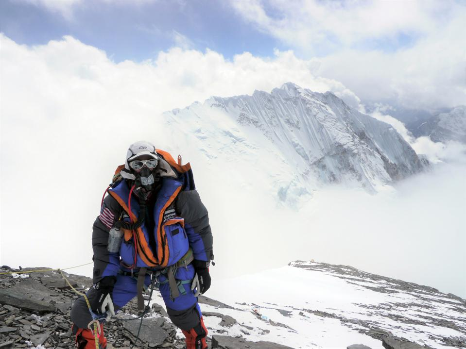 Getting closer to the summit  Alison Levine Everest Expedition