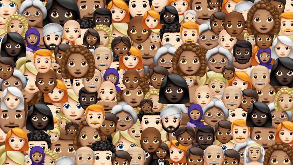 collage of emoji faces