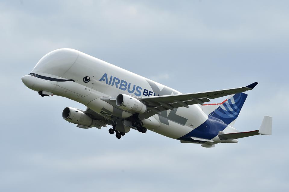 Airbus' BelugaXL carries very large aircraft sections