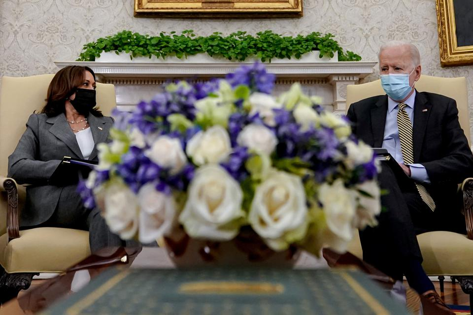 President Biden And Vice President Harris Receive Weekly Economic Briefing